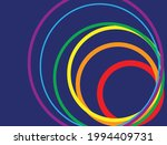 curved rainbow on blue... | Shutterstock .eps vector #1994409731