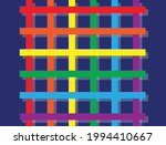 curved rainbow on blue... | Shutterstock .eps vector #1994410667