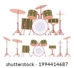 complete drum set with cymbals...   Shutterstock .eps vector #1994414687