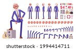 handsome old man  elderly... | Shutterstock .eps vector #1994414711