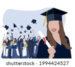 student graduation set vector...   Shutterstock .eps vector #1994424527