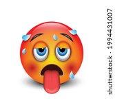 hot emoji  sweating vector... | Shutterstock .eps vector #1994431007