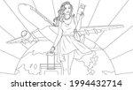 vector graphics  beautiful girl ...   Shutterstock .eps vector #1994432714