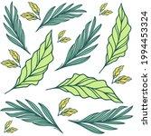 summertime tropical leaves and... | Shutterstock .eps vector #1994453324