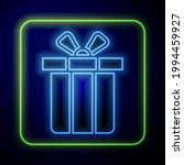 glowing neon gift box icon... | Shutterstock .eps vector #1994459927