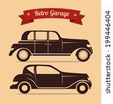 transport design over beige... | Shutterstock .eps vector #199446404