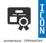 grey certificate template icon... | Shutterstock .eps vector #1994464244
