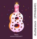 birthday cake font number 8... | Shutterstock .eps vector #1994466401