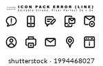 icon set of error line icons....   Shutterstock .eps vector #1994468027