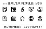 icon set of notebook line icons....   Shutterstock .eps vector #1994469557