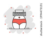 weight loss icon in comic style.... | Shutterstock .eps vector #1994473151