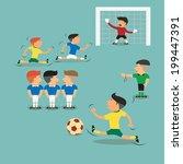 brazil argentina soccer players ... | Shutterstock .eps vector #199447391