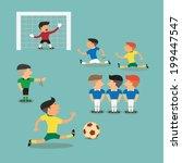 brazil argentina soccer players ... | Shutterstock .eps vector #199447547