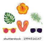 six summer season set icons | Shutterstock .eps vector #1994516147