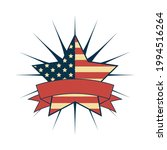 usa star badge with ribbon | Shutterstock .eps vector #1994516264