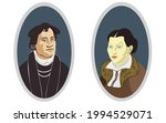 couple of medieval people in a... | Shutterstock .eps vector #1994529071