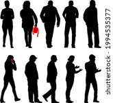 silhouette group of people... | Shutterstock .eps vector #1994535377