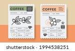 packaging design for coffee.... | Shutterstock .eps vector #1994538251