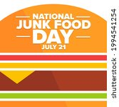 national junk food day. july 21.... | Shutterstock .eps vector #1994541254