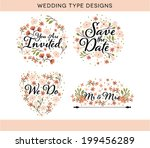 wedding typography collection...