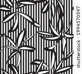 black and white floral tropical ... | Shutterstock .eps vector #1994570597
