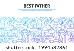 best father outline concept.... | Shutterstock .eps vector #1994582861