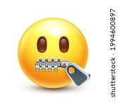 Zip Mouth Emoji. Silent...