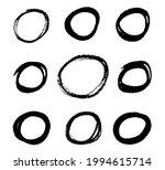 set of grunge hand drawn... | Shutterstock .eps vector #1994615714