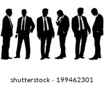 businessman in suit on white... | Shutterstock . vector #199462301