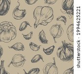 garlic vegetables vector...   Shutterstock .eps vector #1994625221