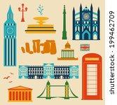 landmarks of united kingdom ... | Shutterstock .eps vector #199462709