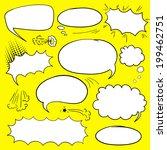 set of empty graphic comics... | Shutterstock .eps vector #199462751