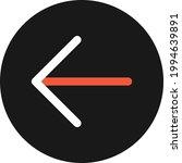 arrow left icon vector image....