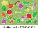vegetables cartoon stickers....   Shutterstock .eps vector #1994660531