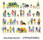 i love my family. cute vector... | Shutterstock .eps vector #1994694881