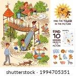 children in the playground.... | Shutterstock .eps vector #1994705351