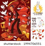 magician. find where rabbit is... | Shutterstock .eps vector #1994706551