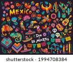 mexican cartoon symbols of... | Shutterstock .eps vector #1994708384