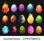 cartoon dinosaur eggs vector...