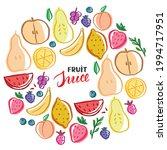 fruit set  collection of juicy...   Shutterstock .eps vector #1994717951