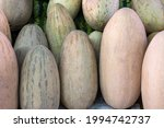 Close Up Of Melons For Sale At...