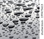 big water droplets closeup on... | Shutterstock . vector #199475615