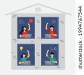 flat illustration  people are... | Shutterstock .eps vector #1994767544