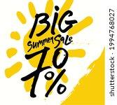 big summer sale. 70  off. hand... | Shutterstock .eps vector #1994768027