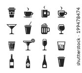 drinks and beverages icon set.... | Shutterstock . vector #199478474