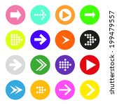 arrow sign icon set. simple... | Shutterstock .eps vector #199479557