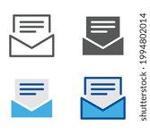 open envelope with document...   Shutterstock .eps vector #1994802014