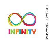 vector sign infinity. written... | Shutterstock .eps vector #199480811