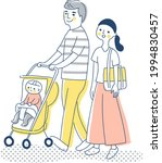 couple walking with baby in... | Shutterstock .eps vector #1994830457