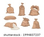 cartoon set of sacks with flour ...   Shutterstock .eps vector #1994837237